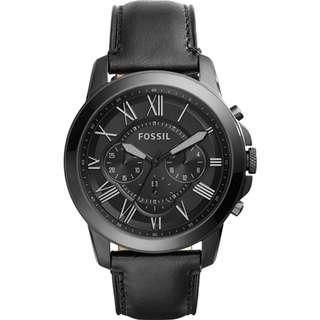 🚚 💥SPECIAL DEALS💥Fossil Grant Chronograph Men's Black Leather Strap Watch