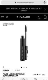 🚚 MAC False Lashes Extreme Black