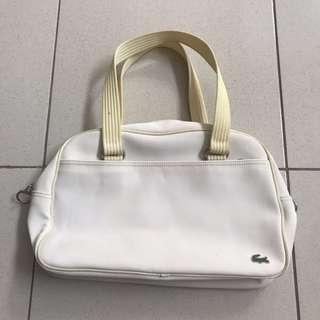 original white Lacoste bag