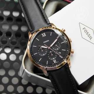 🚚 💥SPECIAL DEALS💥Fossil Neutra Chronograph Black Leather Watch