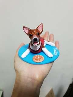 Customise dog figurine ( Jack Russell) made of polymer clay