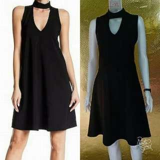 Choker fit n flare dress