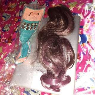 Hairclip brown ombre purple