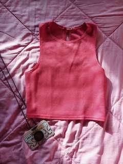New Look Pink Crop Top