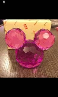 冒險樂園 小朋友 膠珠 仿水晶 米奇頭 寶石 擺設