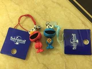 芝麻街 Sesame street Elmo Cookie Monster 吊飾