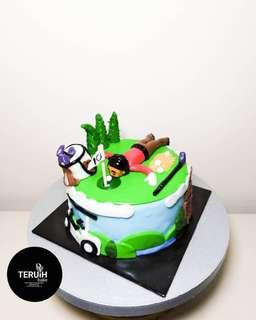 Golf themed cake.