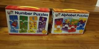Alphabet Puzzles And Number Puzzles