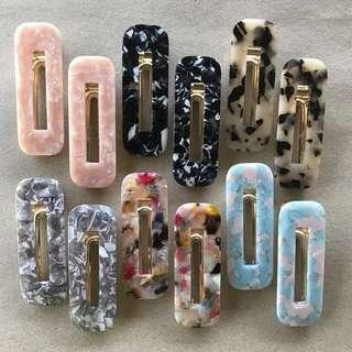 Trendy Acrylic hair clips