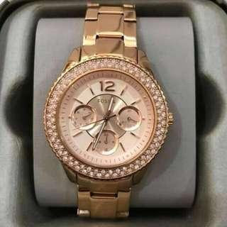 Fossil Rose Gold Chronograph Stainless Steel Ladies Watch