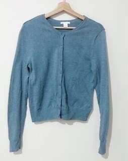 H&M Blue Cardigan - size S tapi gede banget bisa sampe L