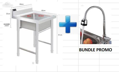 304 Stainless Steel Stand Alone Kitchen Sink Bundle Promo