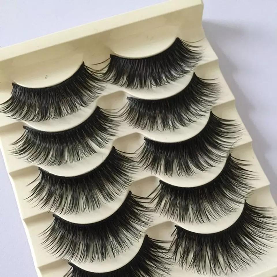 5Pairs/Set Natural Black Long Fake Eye Lashes