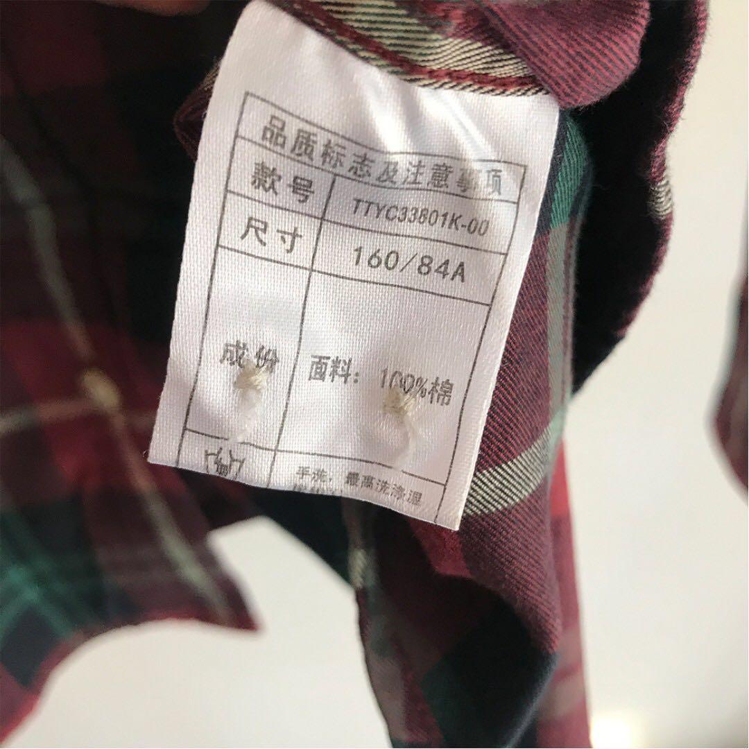 【斷捨離-9.5成新】TEENIE WEENIE小熊logo格子襯衫