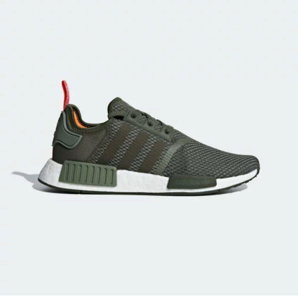 more photos 15870 4c3f4 Adidas NMD R1, Olive Green (Authentic, BNIB), Women's ...
