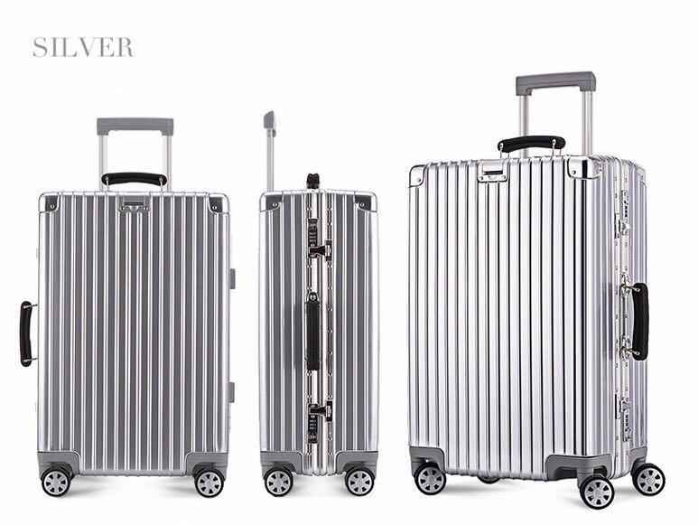 6103ef9e7578 Aluminum frame trolley case 20 inch / 28 inch suitcase fashion trend  suitcase-intl