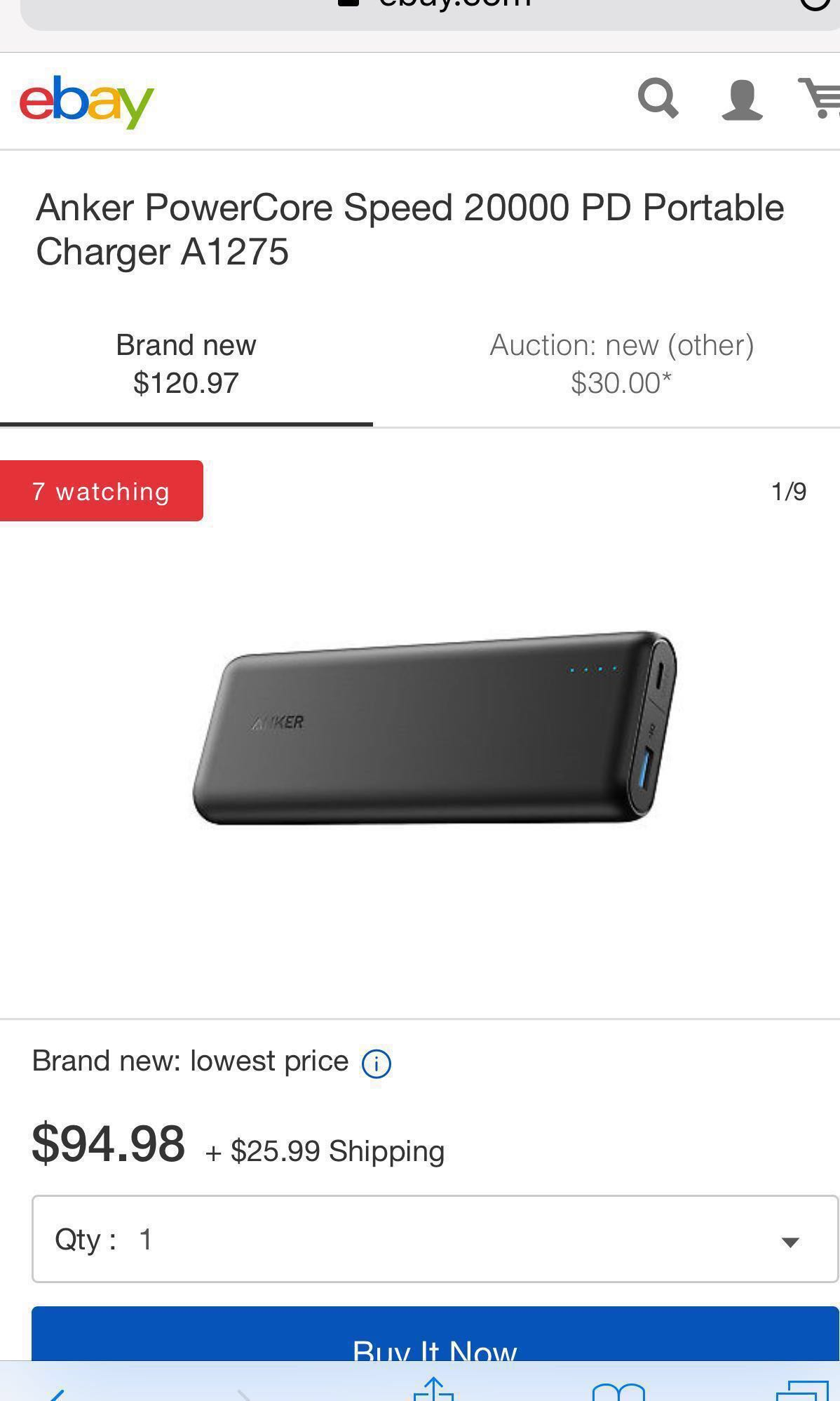 Anker PowerCore Speed 20000 PD Portable Charger A1275