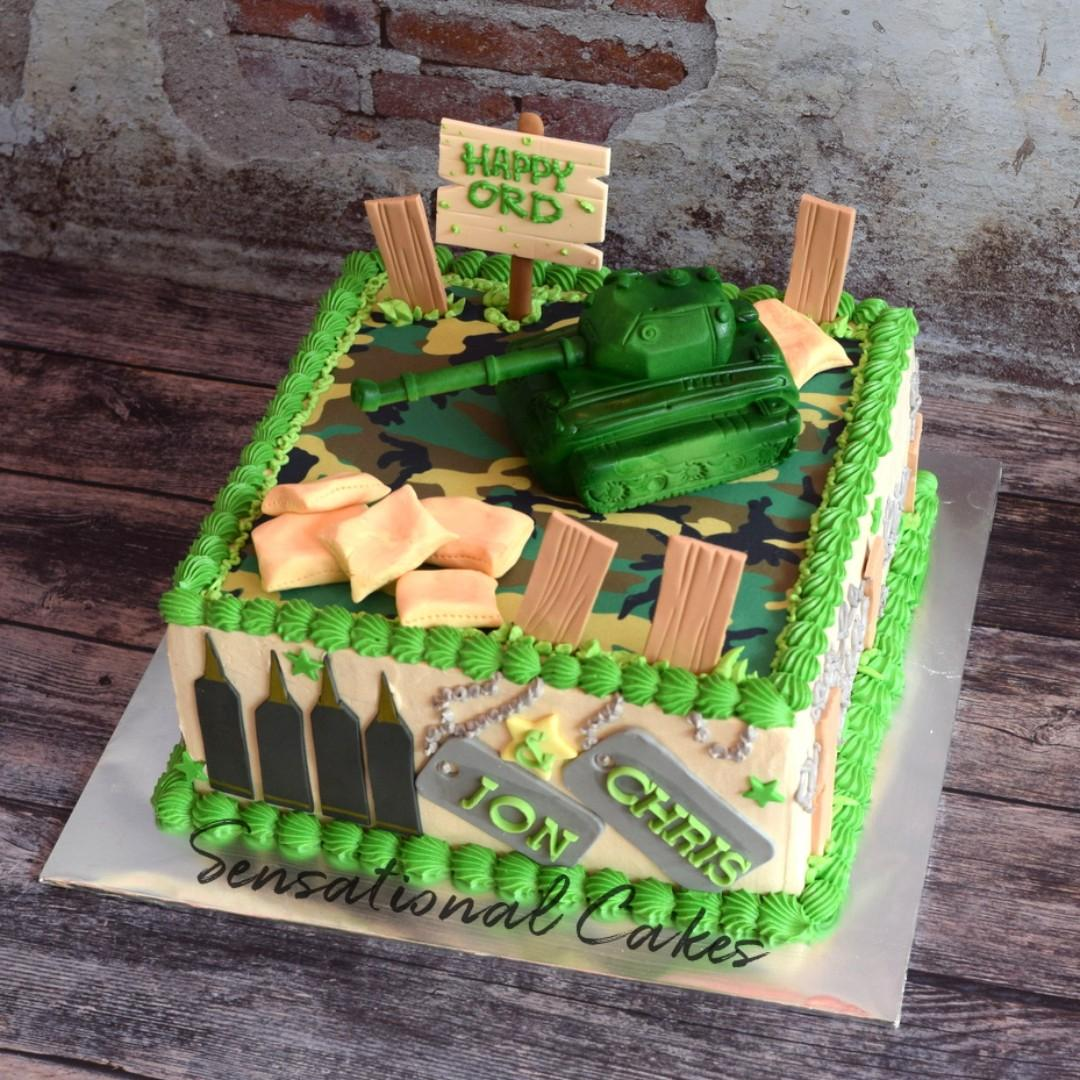 Super Army Military Soldier Tank Figurine 3D Custom Camouflage Cake Funny Birthday Cards Online Aeocydamsfinfo