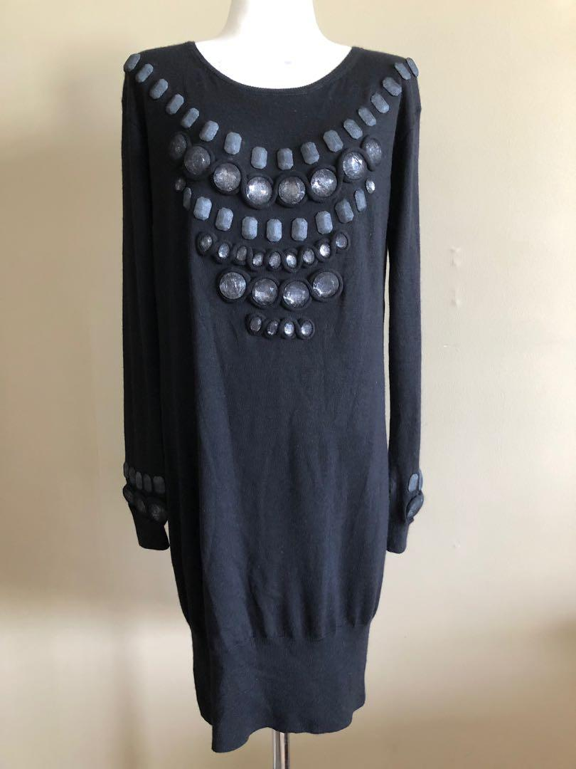 Authentic Christian Dior black dress in size Aus 8-10