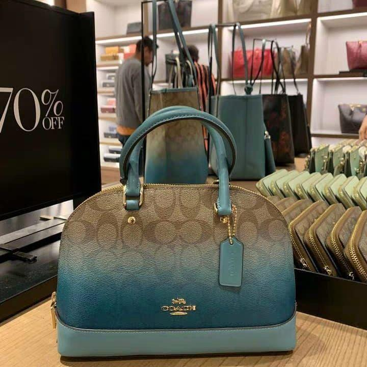 AUTHENTIC COACH MINI SIERRA SATCHEL IN OMBRE SIGNATURE CANVAS (COACH F51664)