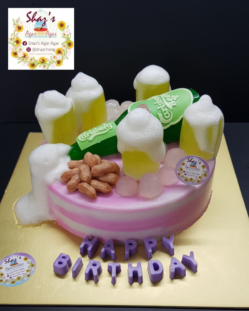 Beer Theme Agar Jelly Birthday Cake Food Drinks Baked Goods
