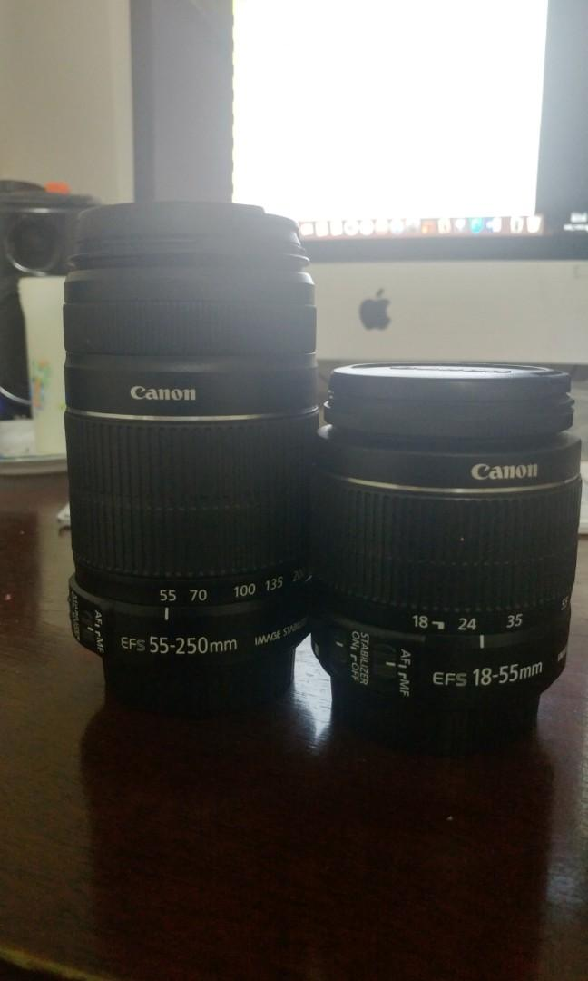 -Canon 18-55mm f/3.5-5.6 IS II and Canon 55-250 f/4-5.6 IS II