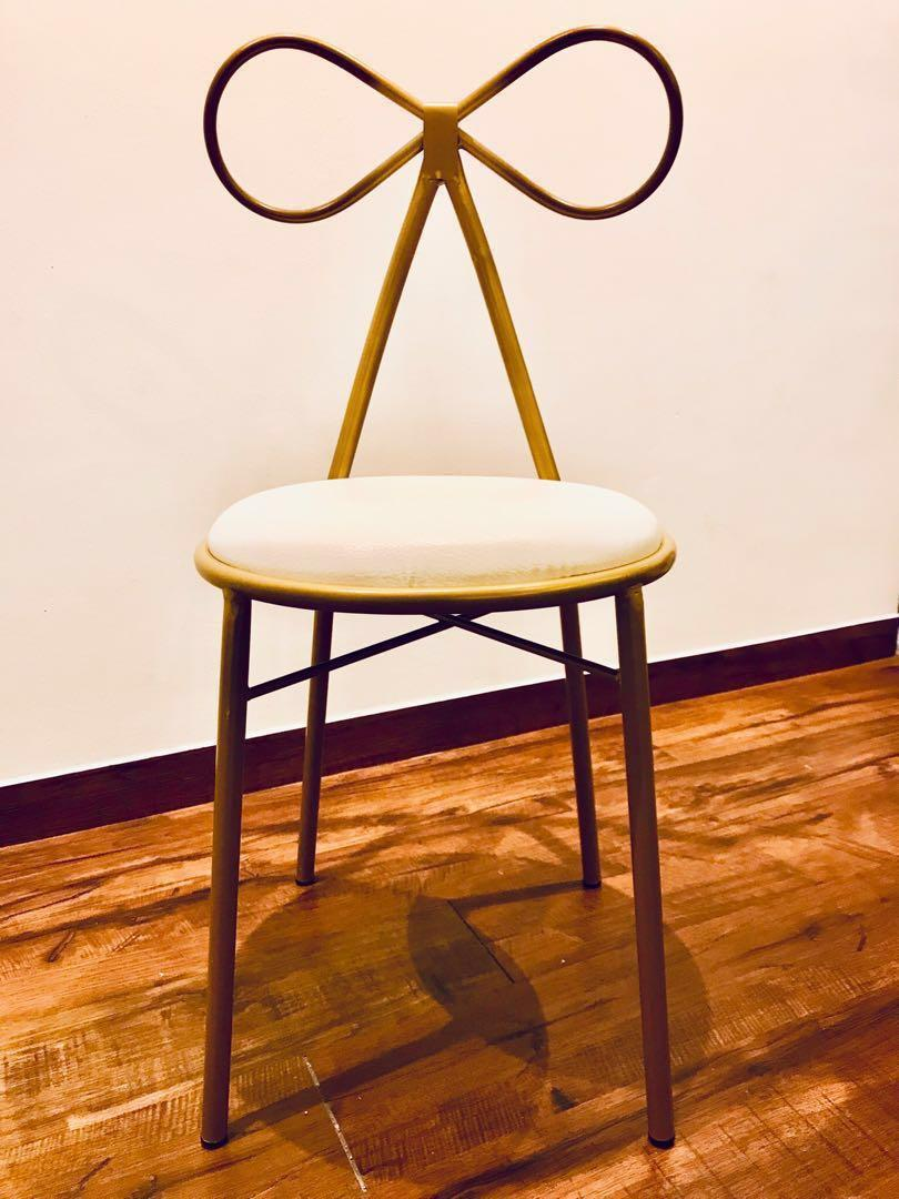 Chair with Metal 'Ribbon' Backrest
