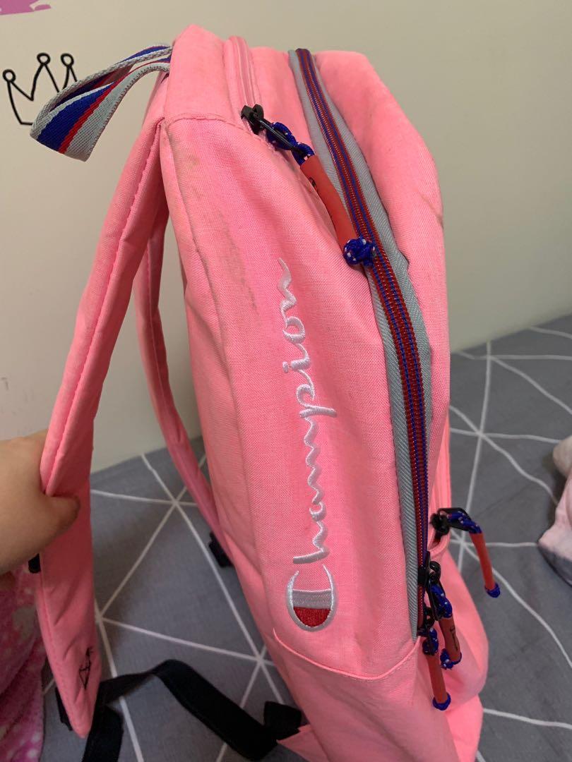Champion 粉紅色背包