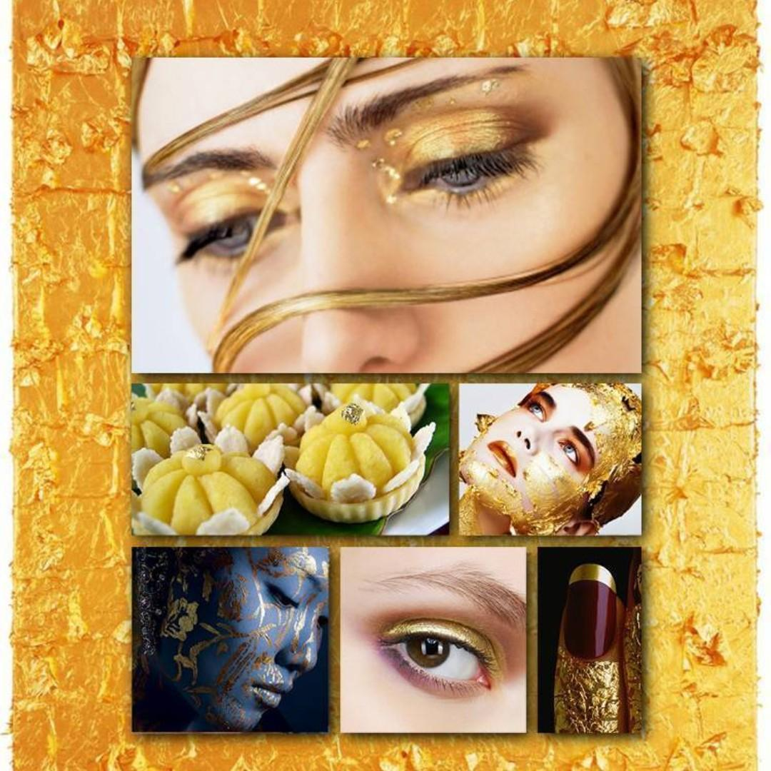 EDIBLE 24K 999.9 GOLD LEAF FOIL (FREE POSTAGE) - ALL PURCHASE - ADD TO FOOD /CAKE FOR HOTEL SHOP ETC - LUXURY PREMIUM QUALITY