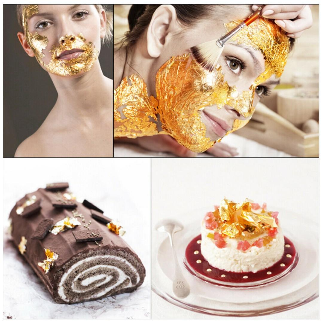 EDIBLE 999.9 24K PURE GOLD LEAF FLAKES - 10G - DIRECT FROM FACTORY - PROMOTION - ADD TO FOOD - PREMIUM QUALITY - LUXURY