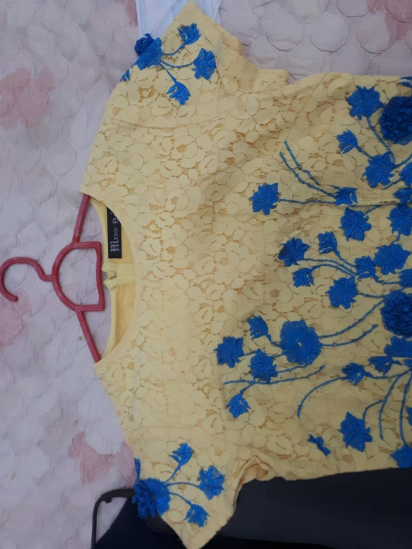 Flower Dress Brukat ukuran M