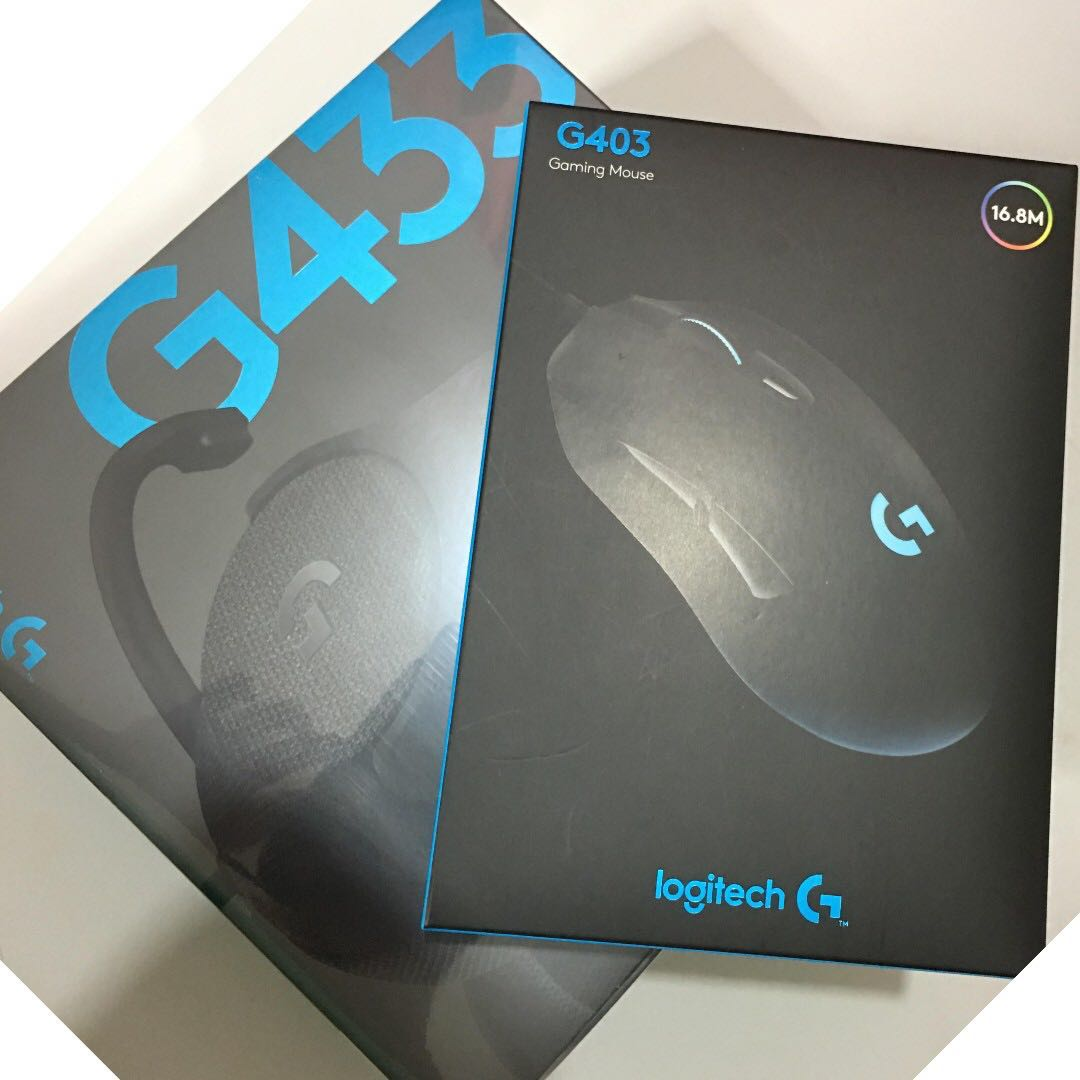 91fa1c09b1c G433 7.1 Surround Headset & G403 Prodigy RGB Mouse Bundle ...