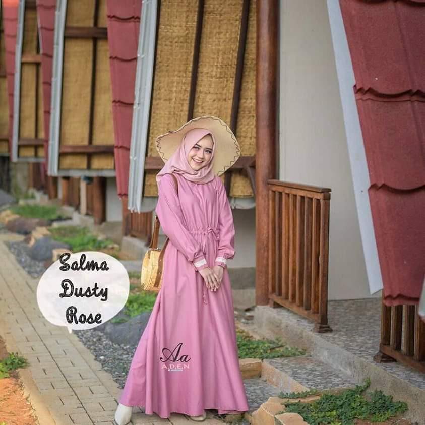 Gamis Aden Fesyen Wanita Muslim Fashion Gaun Di Carousell