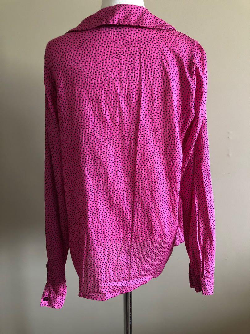 Ganni viscose blouse in size medium, Aus 6-8