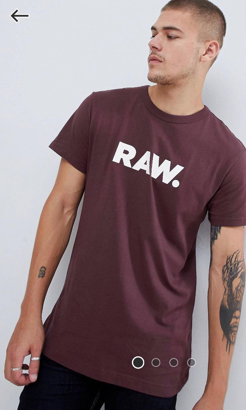 G-star raw logo t shirt in purple - L