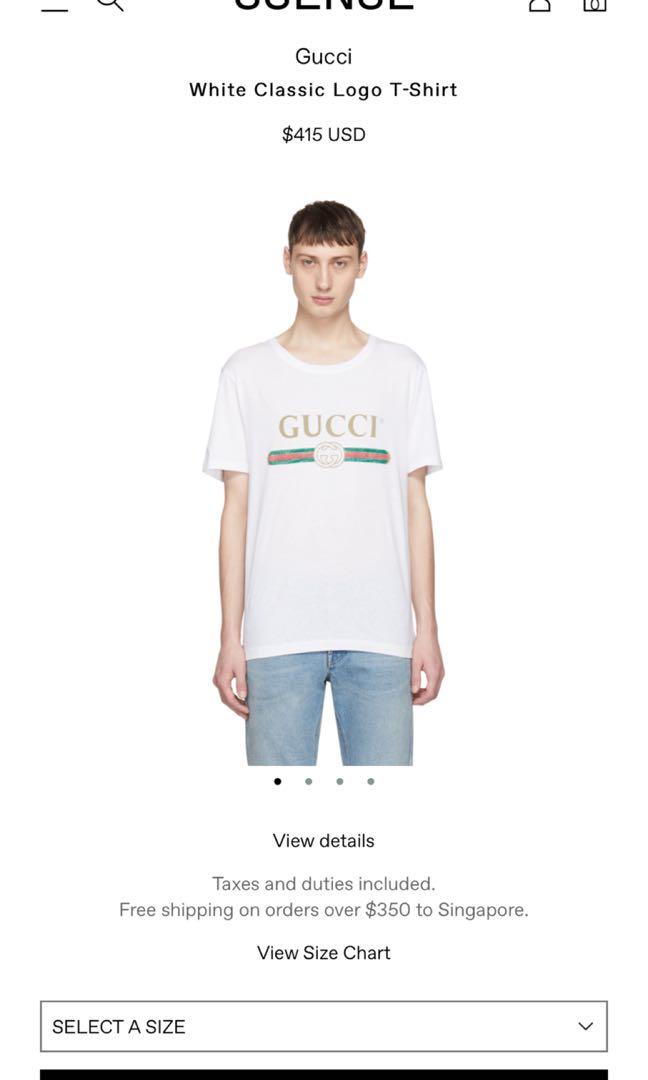 d96d175d3f4 GUCCI CLASSIC LOGO T shirt