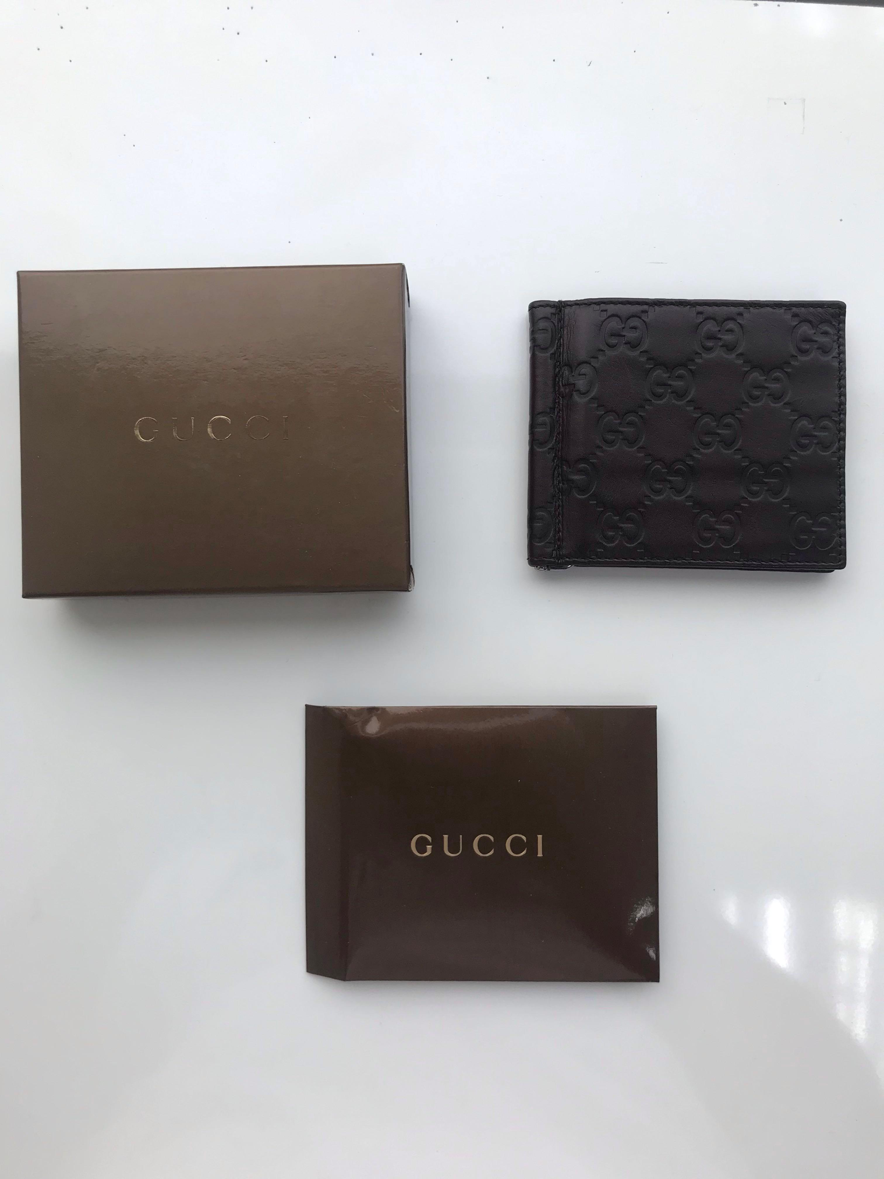 Gucci Monogram Money Clip Men S Fashion Bags Wallets Wallets On Carousell