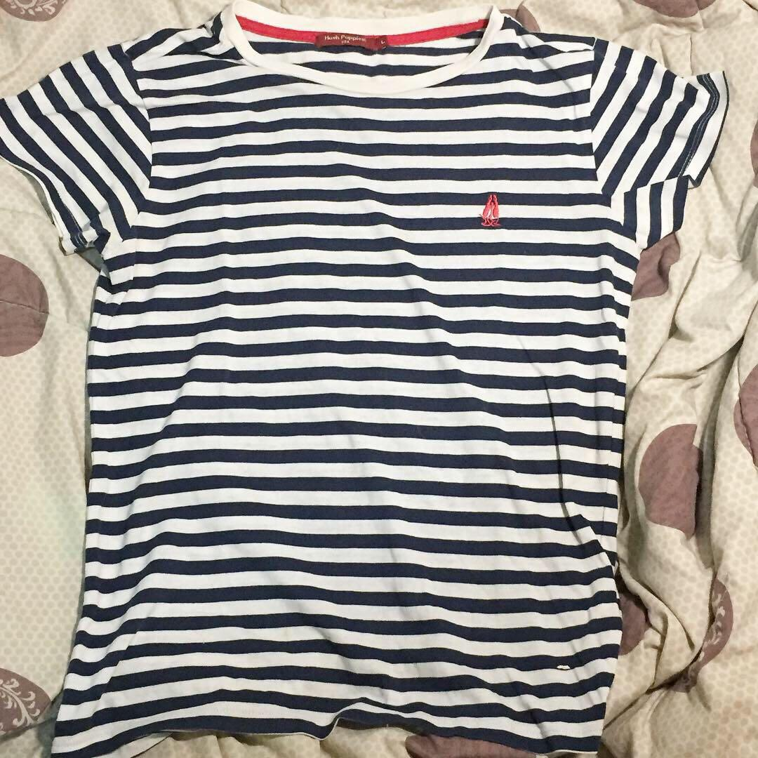 HUSH PUPPIES STRIPED TEE