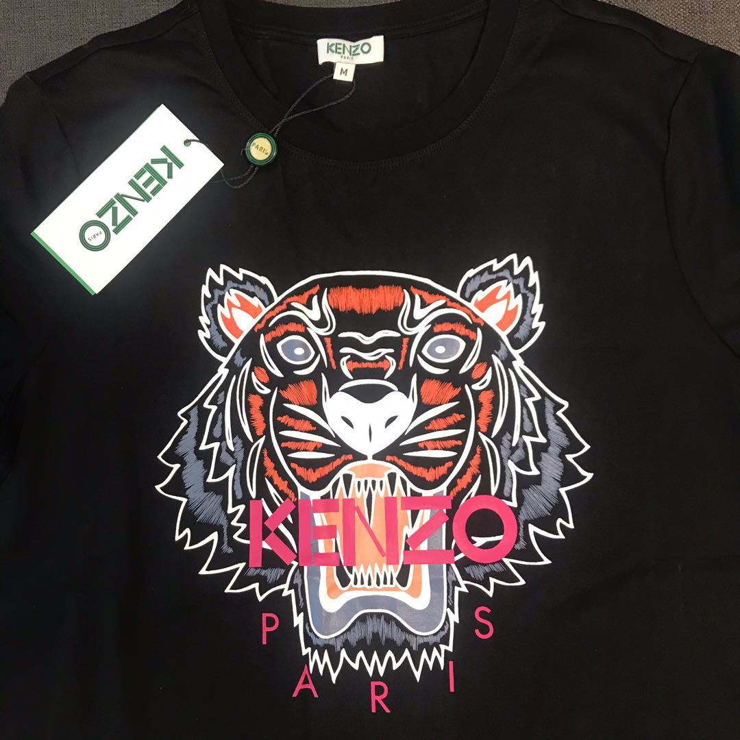 87c3a9f2 In Stock# Kenzo Women's Tiger Shirt - Black, Women's Fashion ...