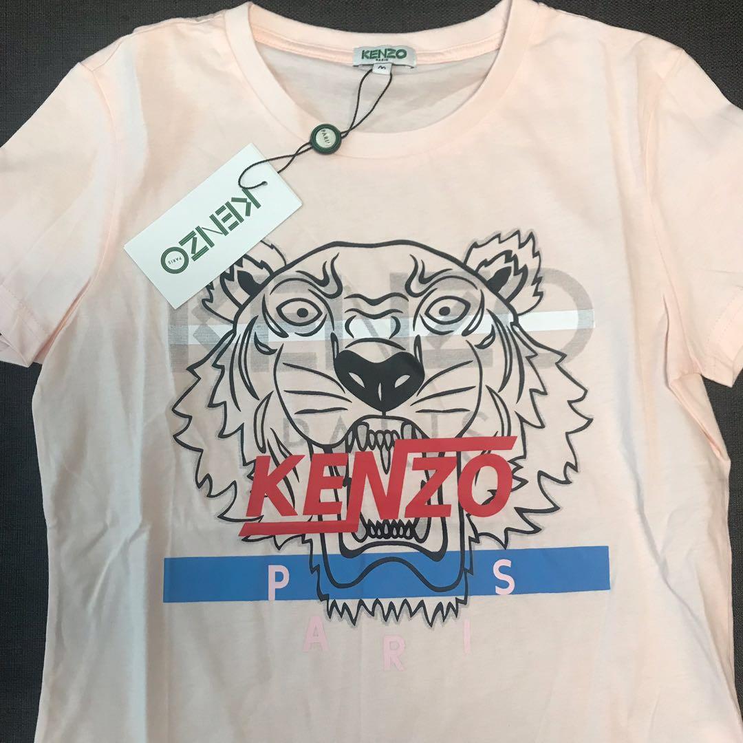 be123f5f In Stock# Kenzo Women's Tiger Shirt - Light Pink, Women's Fashion ...