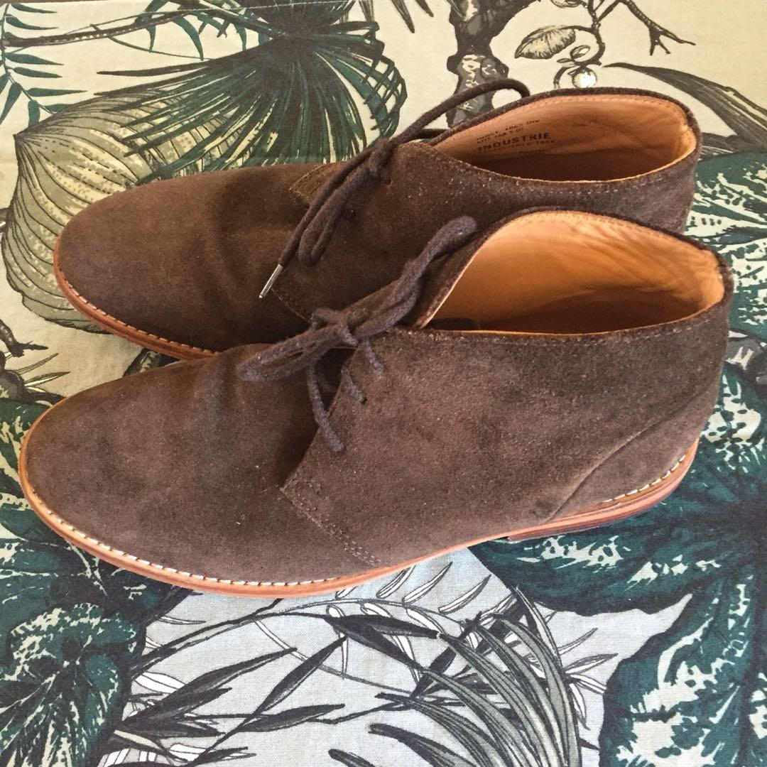 Industrie Brown Suede Chukka Desert Boots Men's Lace Up Size 41 (AUS 7-7.5)