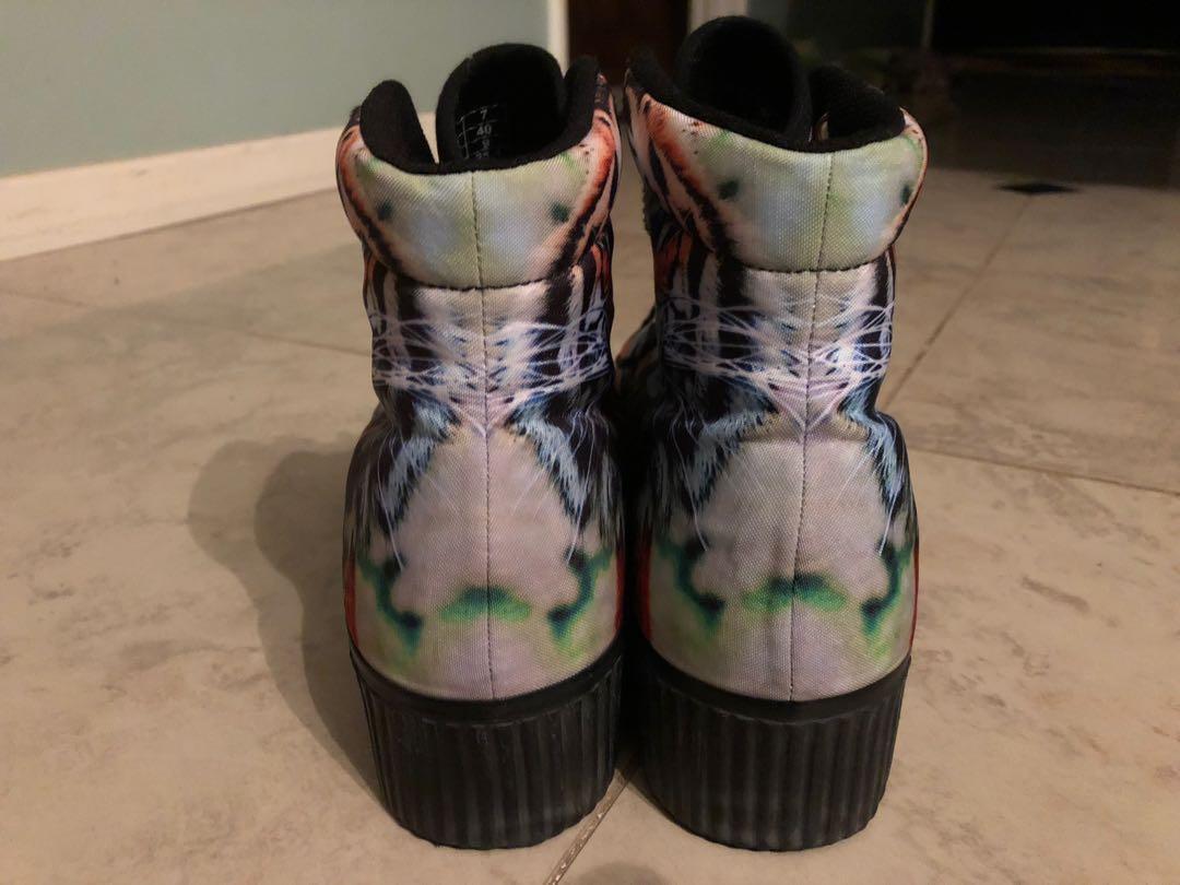 Jeffrey Campbell Platform Flatform Tiger Sneakers Hi Top
