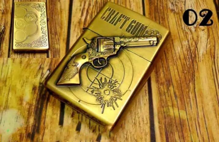 Korek api Zippo kantai pistol Mancis pemantik lighter unik
