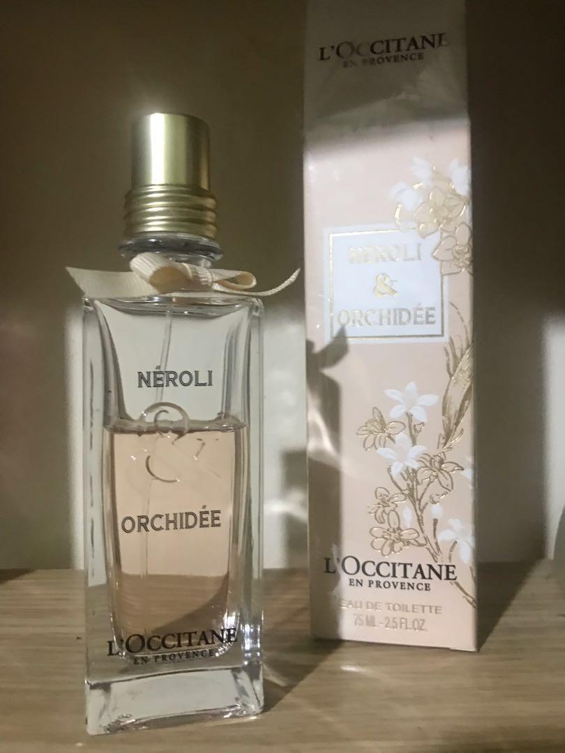 L'occitane neroli orchidee parfum , body lotion , edt