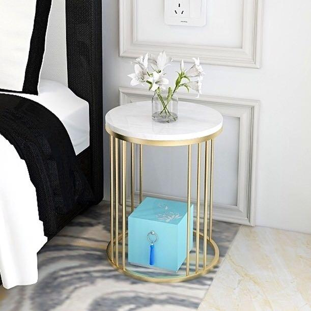 Marble Round Side Table
