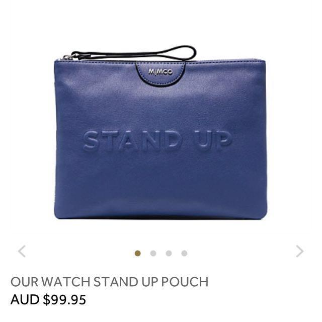 Mimco Our Watch Stand Up Pouch