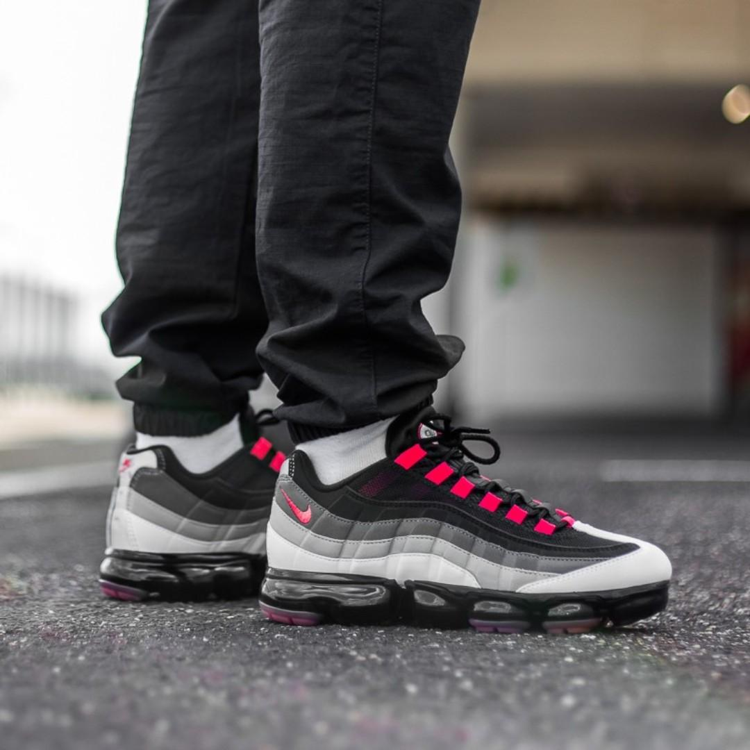 "Nike Air Vapormax 95 ""White/Red/Black"" US Men's 8 9 10 11"