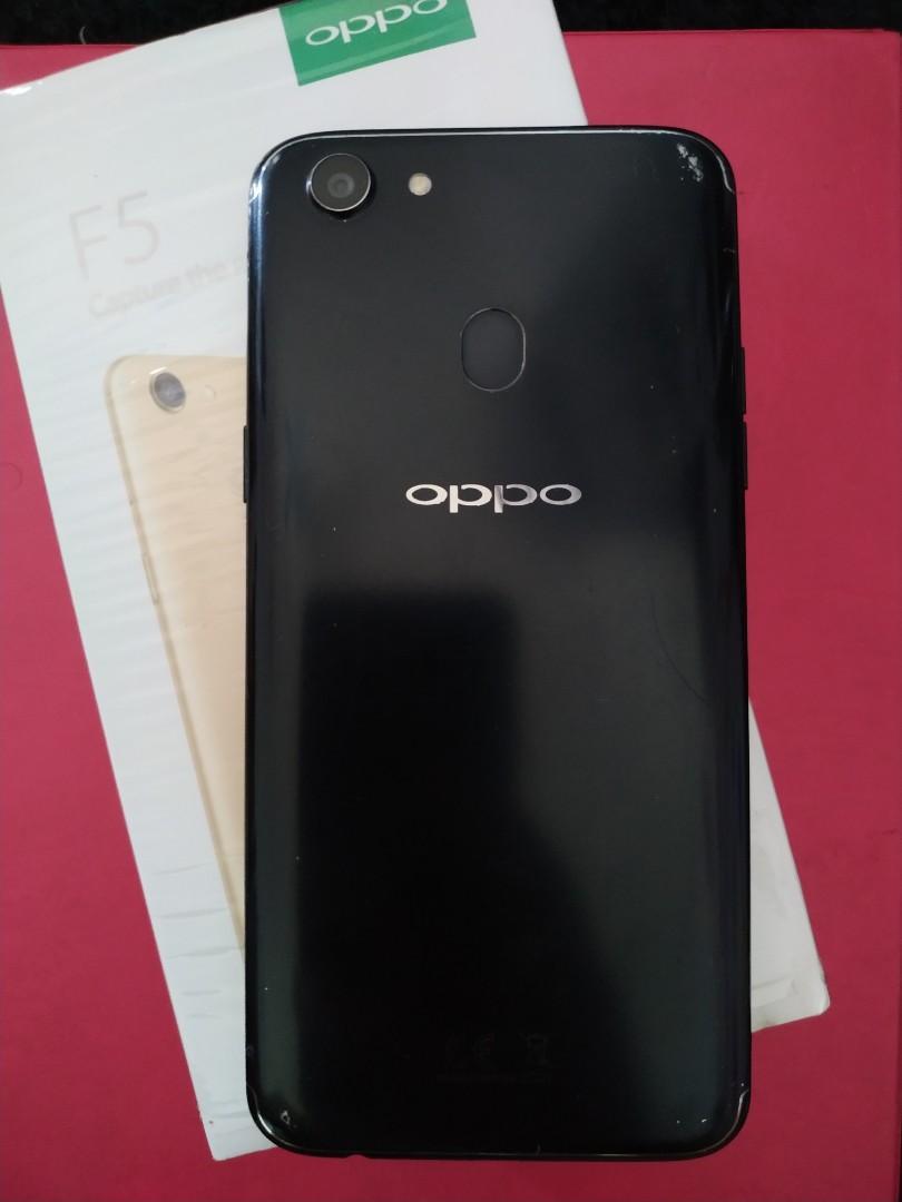 Oppo F5 Black Ram 4/32Gb Fullset Ori utamain Cash TT Ok