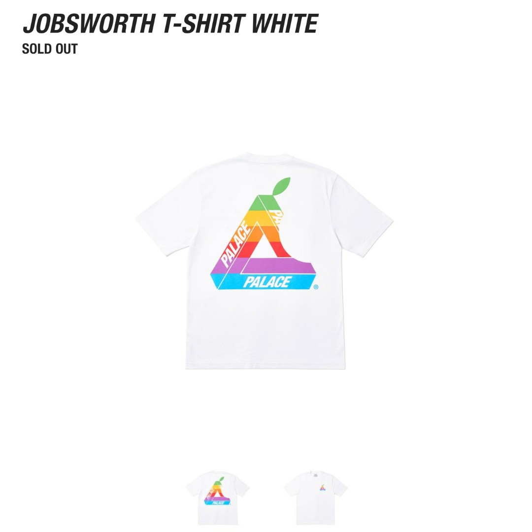351db004 Palace Jobsworth Tee (White), Men's Fashion, Clothes, Tops on Carousell