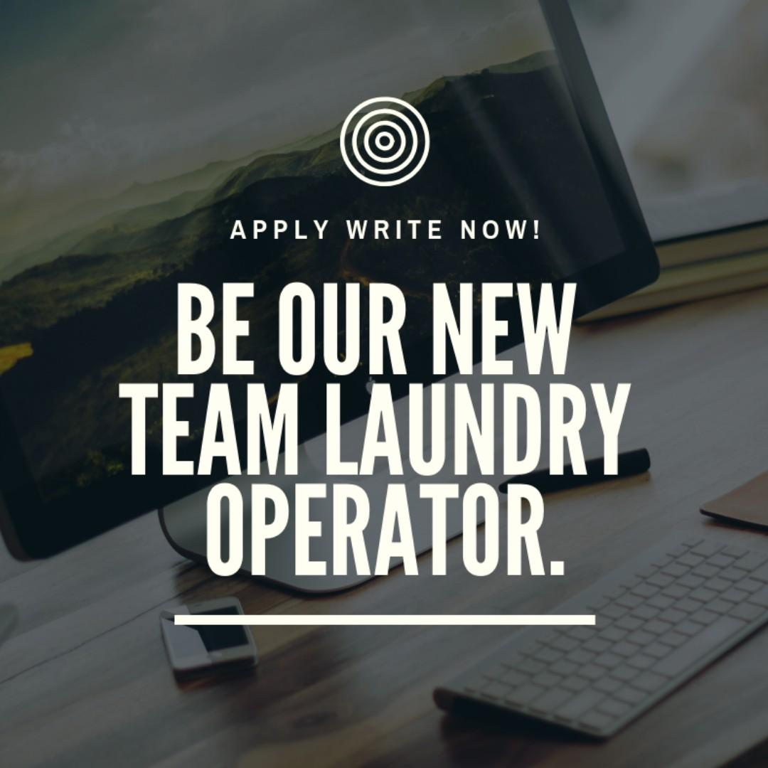 Part time laundry crew needed $7 per hour